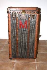 A vintage Goyard wardrobe purchased for $95 at an antique store in Orange Park.