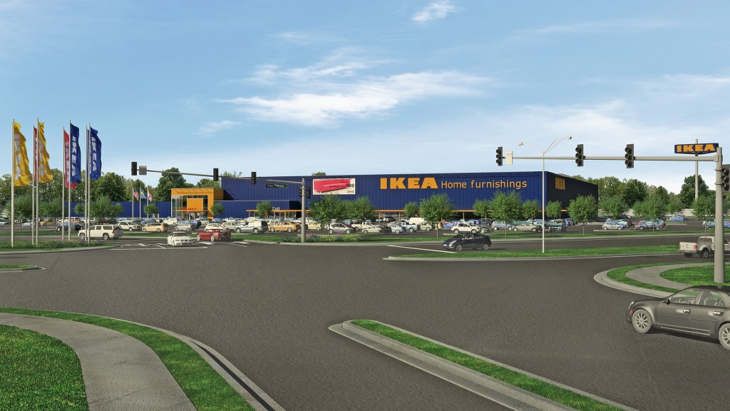 Architectural Rendering of Proposed IKEA Jacksonville (Opening Fall 2017) - hi