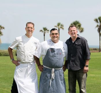 Team Beaches: chef Daven Wardynski of Omni Amelia Island Plantation, chef Arnaldo Gonzalez of The Ritz-Carlton, Amelia Island and chef Daniel Iammarino of Barzin