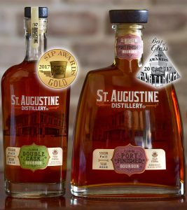 "St. Augustine Distillery's Bourbon and Port Finished Bourbon win gold and ""Best of Class"" platinum medals at 2017 SIP Awards"